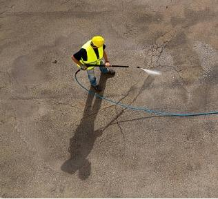 cleaning concrete rust stains